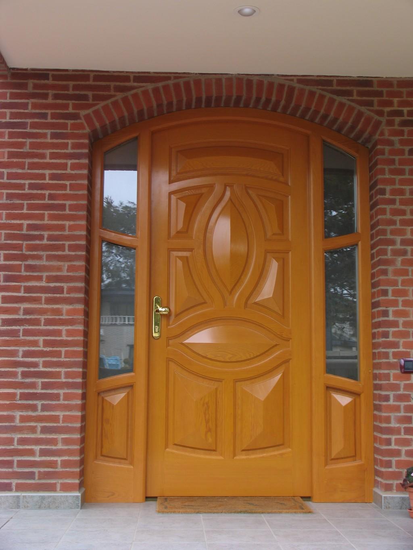puertas de madera casas carpinter a y decoraci n On puertas de madera en arco